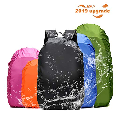 Replacement Rain Cover - Frelaxy Waterproof Backpack Rain Cover for (15-90L), Upgraded Design & Silver Coated, for Hiking, Camping, Traveling, Outdoor Activities (Fuchsia, M)