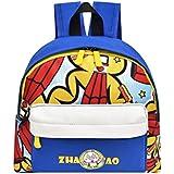 FimKaul Kids Backpack, Cute Print Toddler Baby Backpack Cartoon Pre School Bags for Boys Girls (Blue)