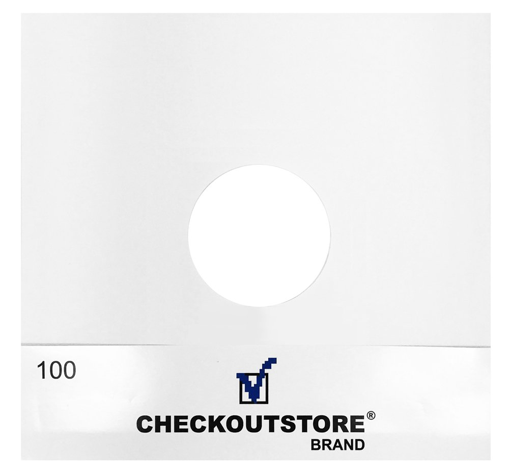 (1000) CheckOutStore Paper Record Inner Sleeves With Hole for 12'' Vinyl 33 RPM Records (Standard)
