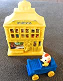 McDonalds - The Busy World of Richard Scarry #2 HUCKLE CAT AND SCHOOL (Toy Vehicle & Bldg.) - 1995