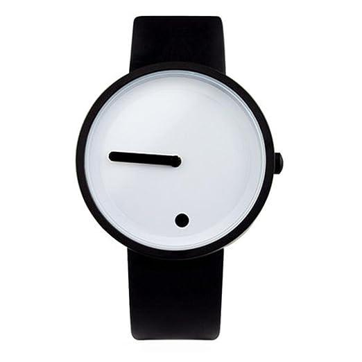 Creativo/Vertical/Punto/reloj simple/cinta de acero/relojes personalizados/ relojes de los hombres, 4: Amazon.es: Relojes