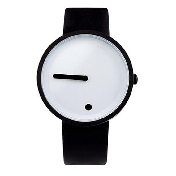 Creativo/Vertical/Punto/reloj simple/cinta de acero/relojes personalizados/
