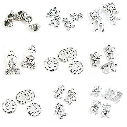 Koala Bear Bead - 32 Pieces Jewelry Making Charms Bear Doll Winne Mouse Winnie Sign Koala Loose Beads