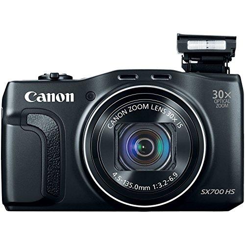 Canon PowerShot SX700 HS Digital Camera - Wi-Fi Enabled (Black) (Renewed)