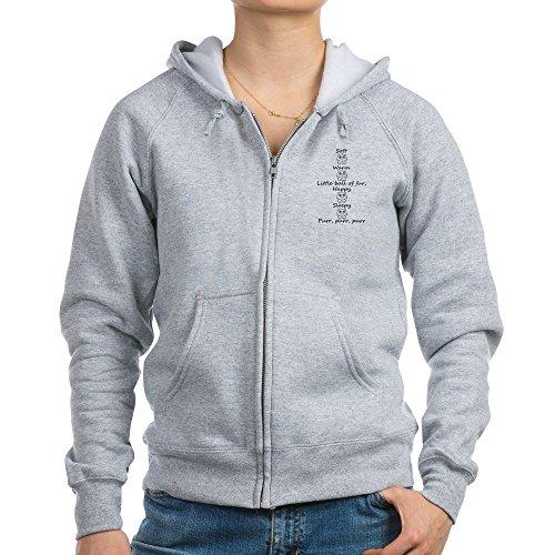 CafePress - Soft Kitty Women's Zip Hoodie - Womens Zip Hoodie, Classic Hooded Sweatshirt with Metal Zipper Kitty Zip Hoodie