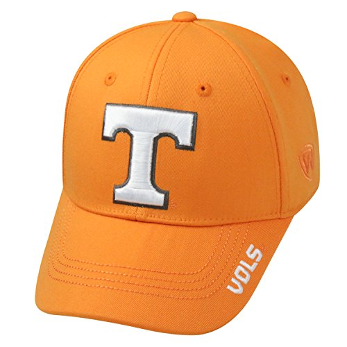 outlet store 85a71 9800e Top of the World NCAA-Premium Collection-One-Fit-Memory Fit-Hat Cap-Tennessee  Volunteers