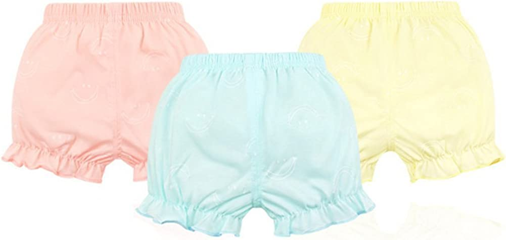 JIEYA 3-Pack Baby Girls Underwear Toddler Bloomers Shorts Training Pants-Assorted Color