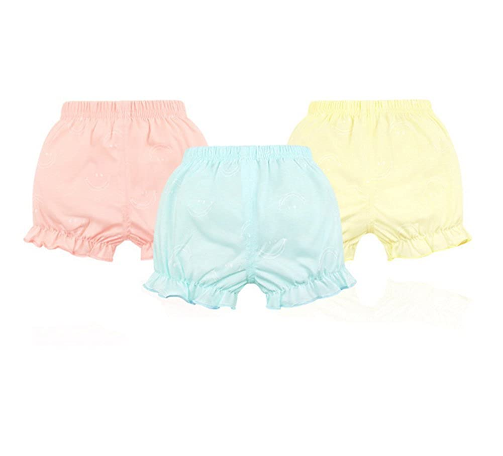 JIEYA 3-Pack Baby Girls Underwear Toddler Bloomers Shorts Training Pants-Assorted Color Baby033Pants-4Pack-A-90
