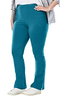 d293cf37d35 Woman Within Plus Size Tall Stretch Cotton Bootcut Yoga Pant at ...