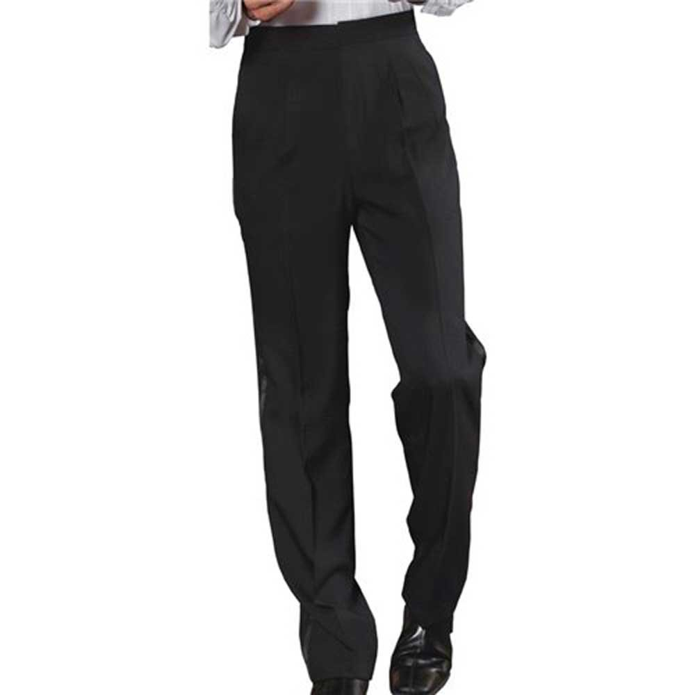 SixStarUniforms Men Tuxedo Pleated Pant Black 2790-PANTS