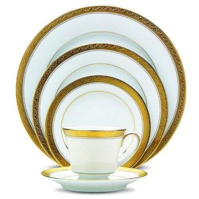 Cheap Noritake Crestwood Gold 20-Piece Set, Service for 4