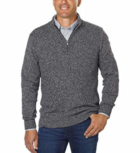 Calvin Klein Mens Quarter Zip Long Sleeve Knit Sweater,