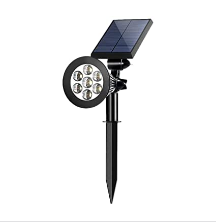 Amazon.com: Sunklly focos solares 7 LED 2 en 1 impermeable ...
