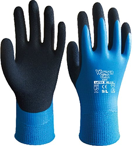 Women Waterproof Worker Nitrile Garden Gloves Labor Day Cleaning Glove, Many Color, Two Size (Small, blue) (Waterproof Garden Gloves)