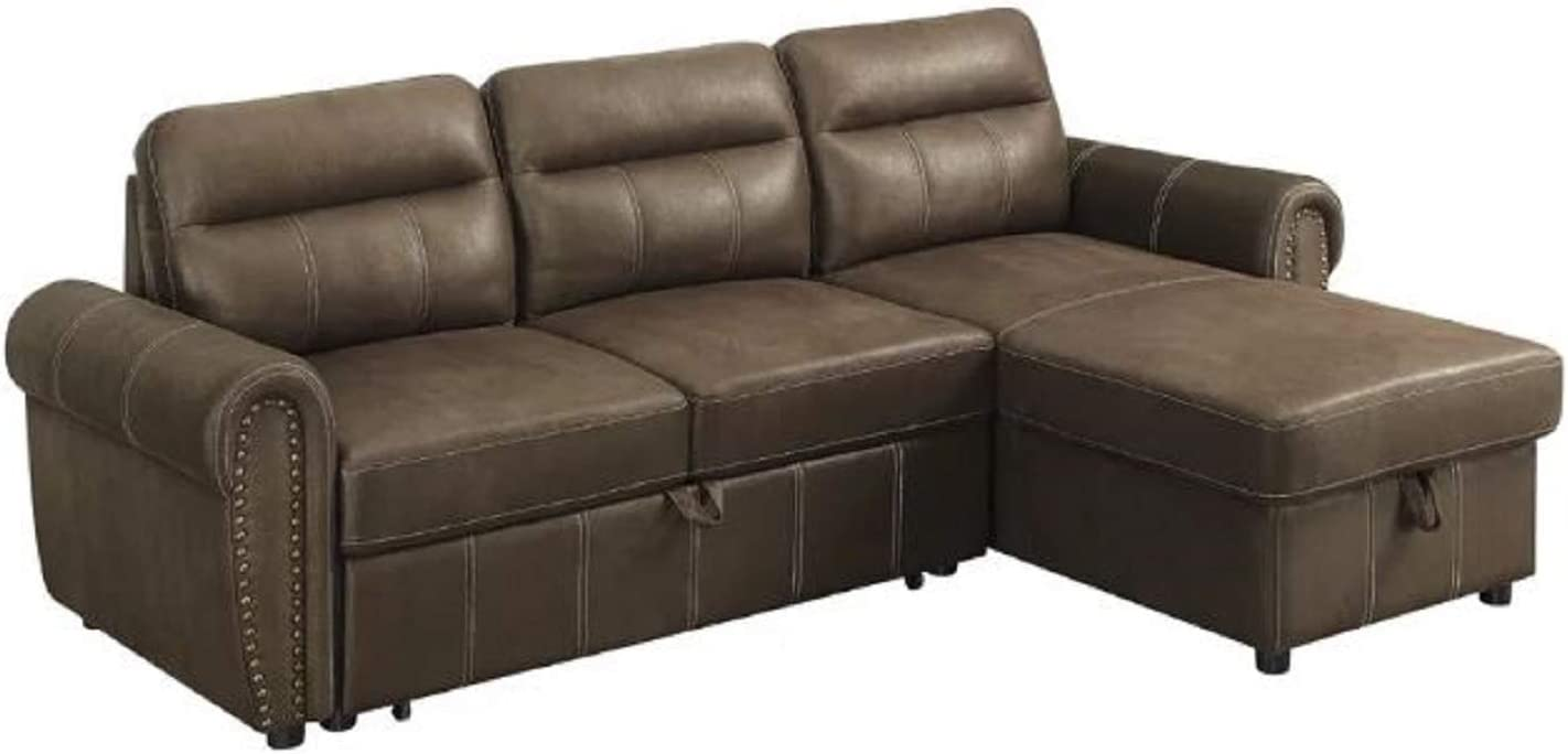 - Sectional Sleeper Sofa Couch, Estepp Reversible Sectional Sleeper