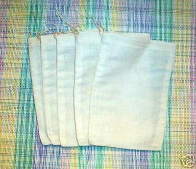 Cotton Muslin Bags 6x8 Inches 25 Count Pack