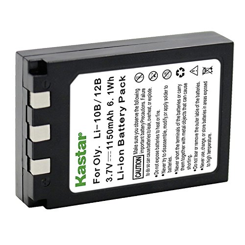 Kastar LI10B Battery for Olympus LI-10B, LI-12B and Olympus Stylus 300, 400, 500, 600, 800, C-50, 60, 70, 470, 760, 770, 5000, Camedia Series, Sanyo Xacti Series Camera