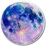 Full Moon Beautiful Blue Vinyl Sticker - Car Phone Helmet - SELECT SIZE