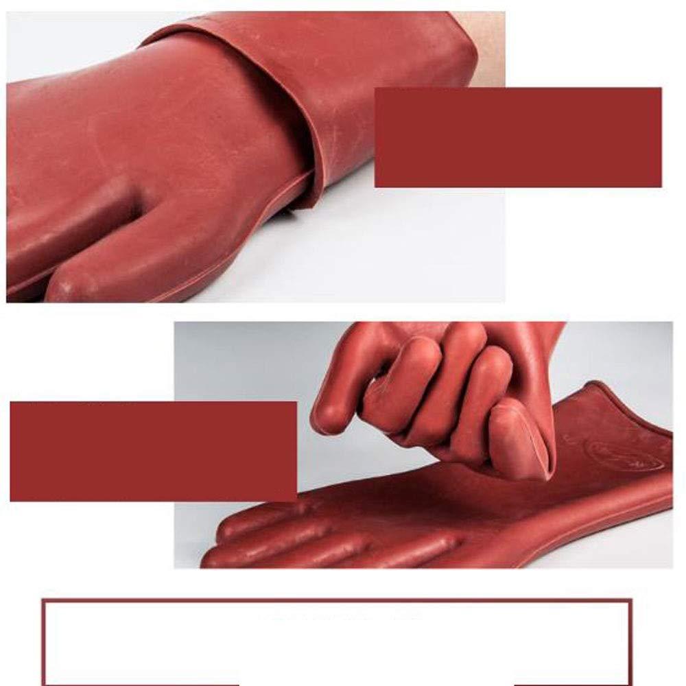 Farbe : Braun LONGLONGJINGXIAO Isolierhandschuhe 12KV Hochspannungselektriker Anti-Elektrik Gummihandschuhe Sicherheit Elektriker Speziald/ünnschnitt