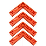 Corner Positioning Squares, EnPoint Carpenter Measuring Tool Clamping Square 90 Degree 3.9'' x 3.9'' Angle Square Corner Clamp Plastic Woodworking Tool for Picture Frames Boxes Cabinets (Set of 4)
