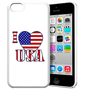 America Flag Design Pattern HD Durable Hard Plastic Case Cover for iphone 5C