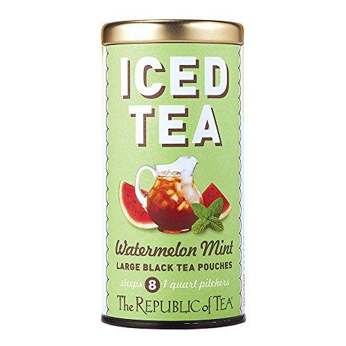 (Republic Of Tea, Iced Tea Pouches Watermelon Mint, 8 Count)
