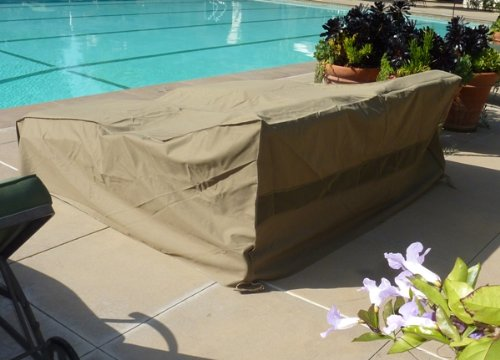 Premium Tight Weave Double Chaise Cover all weather up to 90