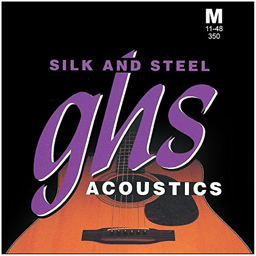 GHS Strings 350 Silk And Steel, Silver-Plated Copper Acousti