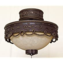 Copper Canyon LK510 Light Kit and Ceiling Light Bronze Finish Parchment Glass