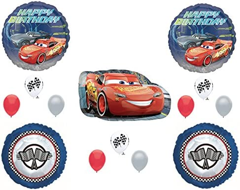 Amazon DISNEY CARS 3 Birthday Party Balloons Decoration Supplies 14 Pc Lightning Cruz Everything Else