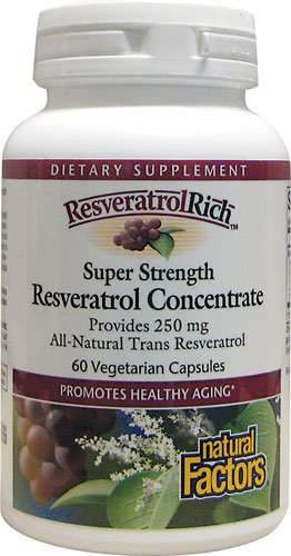 ResveratrolRich by Natural Factors, Super Strength Resveratrol Concentrate, Promotes Healthy Aging, 60 capsules (60 servings)