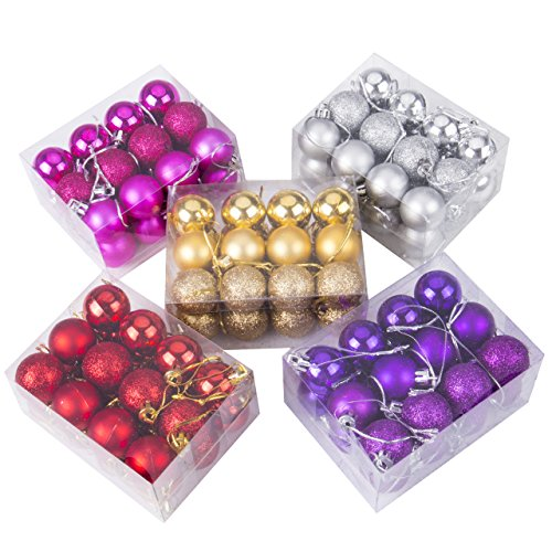 24pcs Christmas Balls Ornament Shatterproof Pendants for Holiday Xmas Garden Decorations (Gold) by Genuisbaby (Image #4)