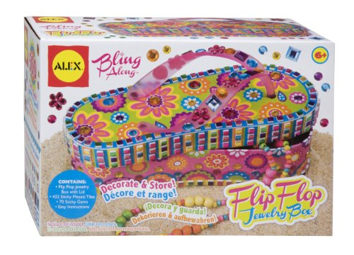 ALEX Toys Craft Bling Along Flip Flop Jewelry - Box Flop Flip Jewelry