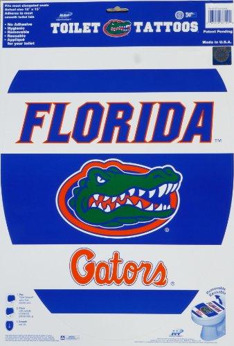 University Applique (Toilet Tattoos, University of Florida - Florida Gators, Decorative Applique for Toilet Lid, Elongated 12 X 15)