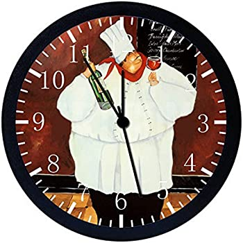 Amazon Com Fat Chef Kitchen Wall Clock Decoration Home