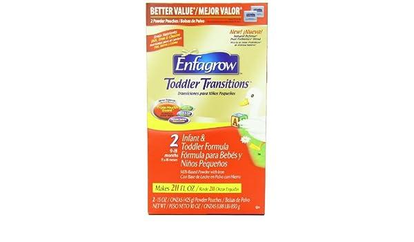 Amazon.com: Enfagrow Premium Toddler Milk Drink, Value Box, 15 Ounce Pouches, 2 Count Pack Gift, Baby, NewBorn, Child by Hendelman & Co.