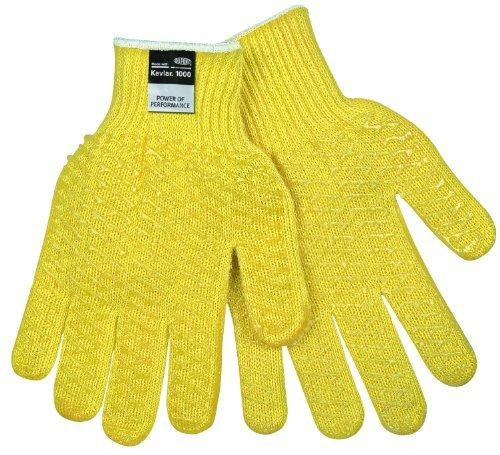 Memphis 9370L 9370 Dupont Kevlar String Knit Gloves 7 gauge Yellow Large 1 Dozen