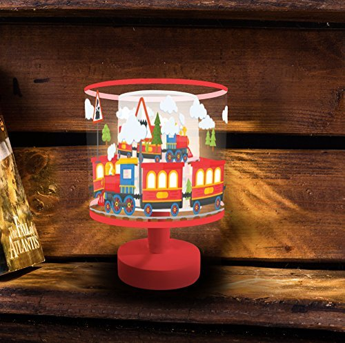 Night Light for Kids, Marmelada Lights, 3D Mini Lampshade Story Series Happy Train, LED Bedside Kids, Baby, Children Night Lamp Bookshelf, Tabletop, Battery operated 2 months runtime.