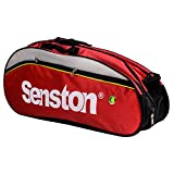 Senston Badminton Racket Bag, Tennis Racquet Bag, Single Shoulder Racket Bag,6 Racquet Bag,Waterproof and Dustproof.(red)