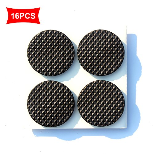Premium Furniture Pads,Thick Non-Slip Rubber (No glue or Nails) Pad Foot Cover Self-Furniture Gripper - Stops Slide -- Adhesive Pads - Protectors (Round 1.5 - Non Slip Rubber