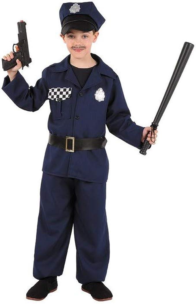 Disfraces FCR - Disfraz de policía talla 6 años: Amazon.es: Ropa y ...