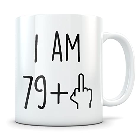 Funny 80th Birthday Gift Mug 80 Year Old Gifts Happy