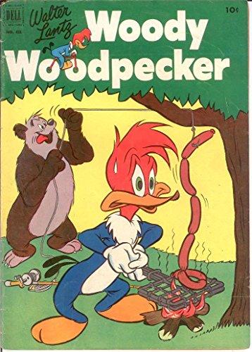 Woody Woodpecker Art - WOODY WOODPECKER F.C. 431 FINE Nov. 1952 COMICS BOOK