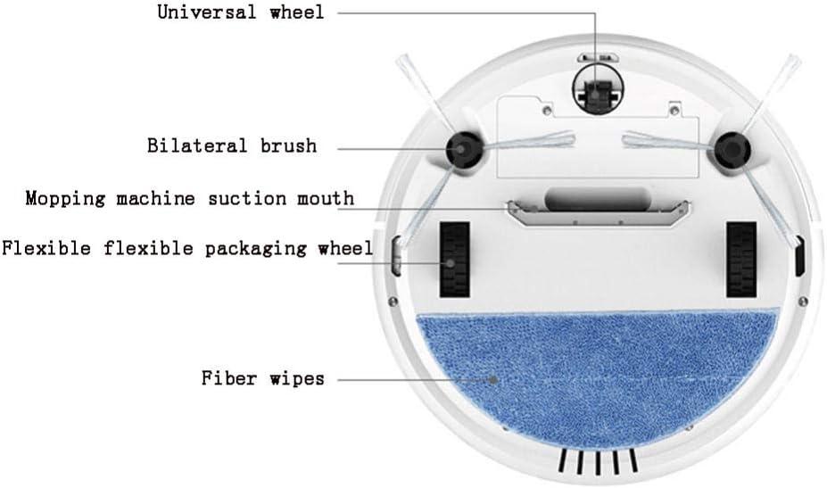 XJZKA Robot de Balayage Automatique, aspirateur Trois-en-Un télécommandé adapté au Nettoyage du Sol en Moquette en Poils d\'animaux-Bleu Blanc