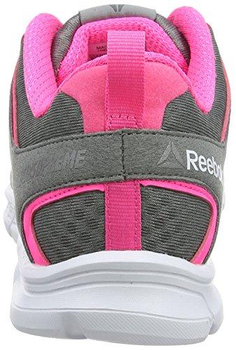 Gris Zapatillas Run para Grey de Reebok Mujer Flint Solar Supreme Running White 0 Pewter 3 Pink fzSRTRIq