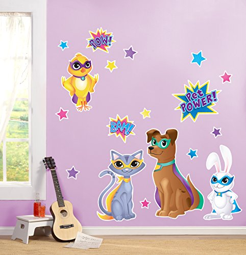 BirthdayExpress Superhero Pets Room Decor - Giant Wall Decals
