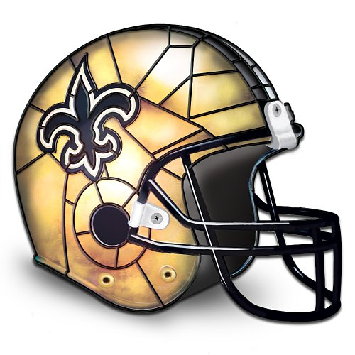 The New Orleans Saints Louis Comfort Tiffany-Style Accent Lamp by The Bradford Exchange