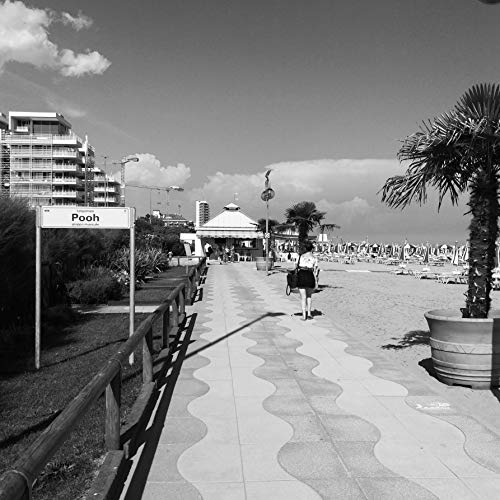 Black And White Beach Photography, Italy Photography, Italy Print, Italy Wall Art, Beach Scene, Pooh, Lido Di Jesolo, Venice, Italy