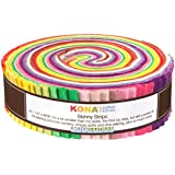 "Kona Cotton Rita Hodge Designer Palette Skinny Strips 40 Pieces 1.5"" Honey Bun Robert Kaufman Fabrics SS-122-40"