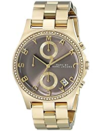 Marc Jacobs Marc by Women's MBM3298 Henry Gold-Tone Stainless Steel Watch with Link Bracelet